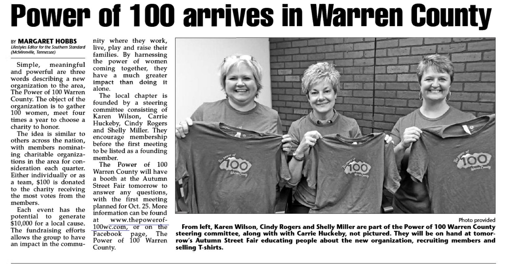 Power of 100 Press Release